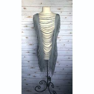 🆕 Lekuin Distressed Open Side Shirt Dress Tunic